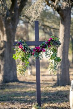 simple outdoor ceremony cross | The Nichols