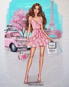 illustrator by  Fashion Artwork, Fashion Wall Art, Fashion Design Drawings, Fashion Sketches, Disney Collection, Image Princesse Disney, Modern Disney Characters, Grand Prince, All Disney Princesses