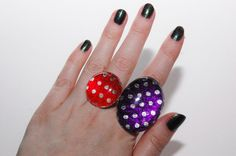 Foil Candy Wrapper Cabochon Adjustable Ring by Jayne Kitsch Harajuku Fairy Kei Cyber Style