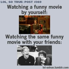 aaaaahahhahaha. :) so true. with the exception of i love lucy. i crack up while watching that, even by myself.