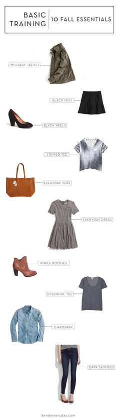 10 Pieces to Help Your Wardrobe This Fall -- advice from the ever-fabulous Kendi Everyday :)