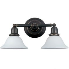 Sea Gull S49065BLE782 Sussex 2 Bulb Bathroom Lighting - Heirloom Bronze