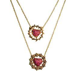 Carla Amorim Sacred Hearts Necklace 5Ne3r2