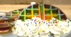 Rainbow+Waffles