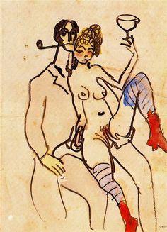 Pablo Picasso - Angel Fernandez de Soto with Woman, ca. 1903