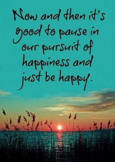 Af en toe is het goed om even te pauzeren in je jacht naar geluk en je gewoon gelukkig te voelen.  Now and then it's good to pause in our pursuit of happiness and just be happy  http://thelittleblackraincloud.com/category/its-the-little-things/