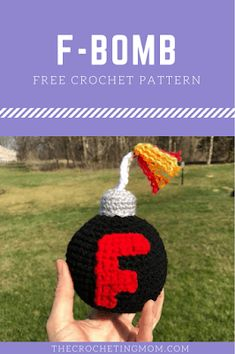 "Crochet Stuff Toys Free Crochet Pattern for the ""F-Bomb"" - I have seen pictures of these F-Bombs floating around for a little while now. I've really wanted to make them, but without an actual reason, my… Love Crochet, Beautiful Crochet, Diy Crochet, Crochet Dolls, Crochet Ideas, Easy Crochet Animals, Crochet Craft Fair, Learn Crochet, Amigurumi Patterns"