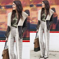 #stealthelook #look #looks #streetstyle #streetchic #moda #fashion #style #estilo #inspiration #jaqueta #pele #fauxfur #coat #cobra #pantalona #camisa #seda #verde