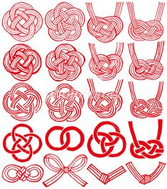 Illustration about Mizuhiki and Japanese family crests. mizuhiki : decorative Japanese cord made from twisted paper. Illustration of maps, logo, chinese - 62524279 Icon Design, Logo Design, Graphic Design, Brush Vector, Japanese Family Crest, Mood And Tone, New Year's Crafts, Passementerie, Japan Design