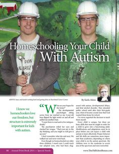 Homeschooling Your Child With Autism – By Karla Akins  The Old Schoolhouse Magazine - 2014 Annual Print Book - Page 80-81