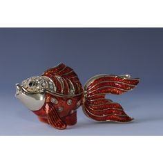 FABERGE RED FISH TRINKET BOX