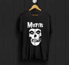 The Misfits Fiend Skull Black T-Shirt Unisex Size S to XL #Unbranded #ShortSleeve