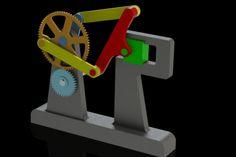 Double crank dwell mechanism