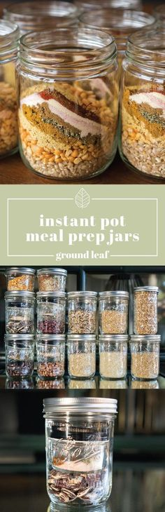 Instant Pot Meal Prep Jars - I can't wait to try this!! My PC is already a time saver; this will def improve my efficiency!! ~cansc