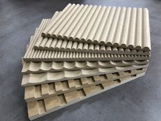 Fluted, Ribbed, Scalloped and Battened MDF panels. Wood Wall Design, Wall Panel Design, 3d Wall Panels, Interior Walls, Interior Design, Joinery Details, Slat Wall, Wall Wood, Wall Cladding