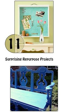 11 Surprising Repurpose projects- Love these DIY ideas for upcycling old stuff for new uses!  Great way to be resourceful.
