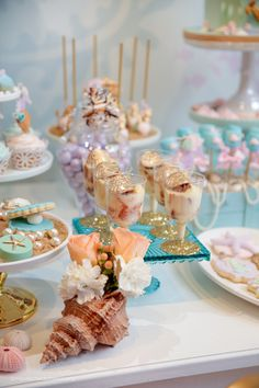 Mermaid Themed 1st Birthday Party | Paarteez.com 1st Birthday Party For Girls, Birthday Favors, Mermaid Birthday, Baby Birthday, Birthday Party Themes, Princess Birthday, Mermaid Baby Showers, Little Mermaid Parties, Under The Sea Party