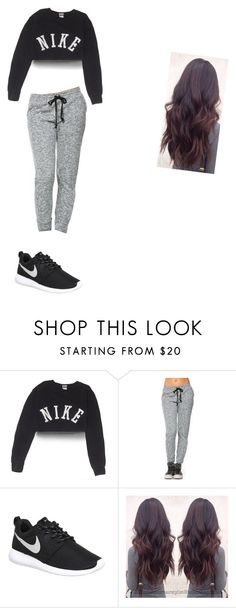 """""""dee did this lol"""" by queenkayla01 ❤ liked on Polyvore featuring NIKE"""