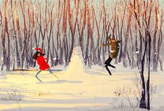 8. Snowball fights