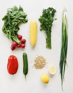 Salad ingredients (except the quinoa!) Photo -Eve Wilson, food styling – Lucy Feagins / The Design Files.