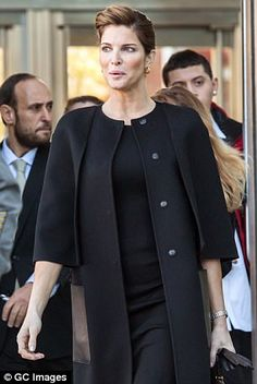 Stephanie Seymour, pictured, was charged with two counts of drunken driving and evading responsibility in Connecticut in 2016
