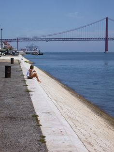 Lisbon, by the Tagus river , Portugal Wonderful Places, Beautiful Places, Portugal Country, Portuguese Culture, Travel Memories, Adventure Is Out There, Luxury Travel, Dream Vacations, Beautiful Landscapes
