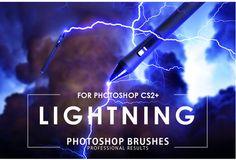 Ad: Lightning Photoshop Brushes by ArtistMef on Lightning Photoshop Brushes pack contains 50 high quality sky lightning strike and lightning bolt brushes, thunderstorm effects, Snow Photoshop, Free Photoshop, Photoshop Brushes, Photoshop Actions, Snow Overlay, Blur Effect, Pixel Size, Brush Sets, Lens Flare