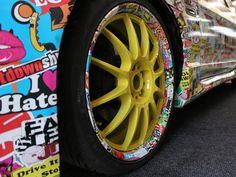 Nissan-Skyline-R34 sticker bomb