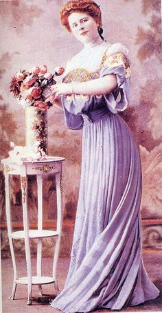 """Callot Soeurs dress, the beginning of 1900. from """"Les Modes""""."""