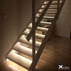 Snygg Trappbelysning med LED tejp Xcen AB - Belysning som skapar försäljning