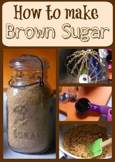 Did you know it only takes two ingredients to make brown sugar at home? You probably already have them in your cupboard, and it only takes five minutes to make your own delicious brown sugar! molasses to 1 cup cane sugar. Homemade Dry Mixes, Homemade Spices, Homemade Seasonings, Homemade Cooking Spray, Make Brown Sugar, How To Make Brown, Food Storage, Canning Recipes, Smoker Recipes