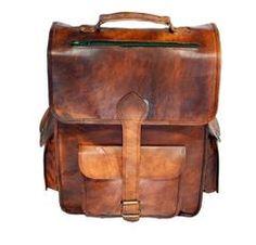 Vintage leather rucksack backpack luggage bag over night bag and weekend bag. Vintage leather laptop rucksack backpack bag handmade