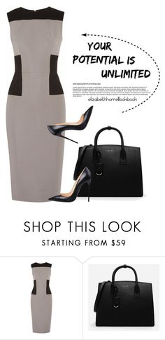 """STYLED BY LIZ"" by elizabethhorrell ❤ liked on Polyvore featuring Victoria Beckham and CHARLES & KEITH"