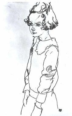 Schiele - Maria Steiner - 1918