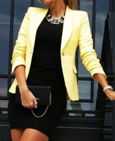 love these combinations...guess I will have to break out the yellow wool jacket soon, no much longer on linen...bummer!