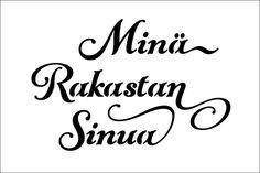 Mina Rakastan Sinua on or or inch laser-cut stencil by PearlDesignStudio on Etsy