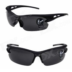 OULAIOU LA-1103 Outdoor Cycling UV400 Protection PC Sunglasses - Black Price: $4.99
