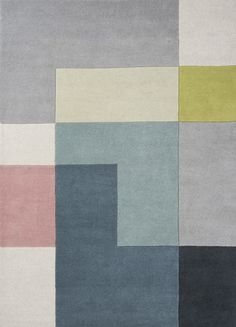 WovenGround Tetris rug made in hand tufted wool - green http://wovenground.net/modern/square-and-check/-tetris/green