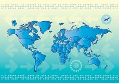 World Map Countries Vector Graphic
