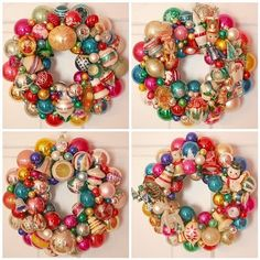 i love these ornament wreaths