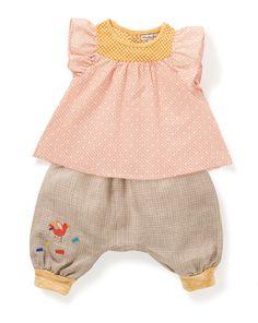 Pour les filles : Tunique Olia et Sarouel Oumy - Petits habits été Papoum - Moulin Roty