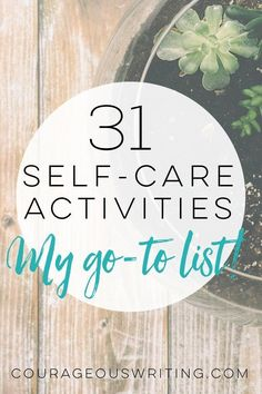 This is my go-to self-care activities list! Whether you are short on time, need ideas for a weekend Self-care retreat, or are just looking for ideas to work into your daily routine - there will be something for you!
