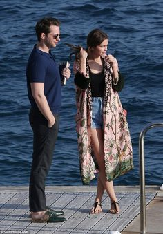 Hanging out: She hung out with Derek Blasberg for the day, during Cannes Film Festival...
