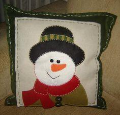 Almofadas de Natal - Boneco de Neve