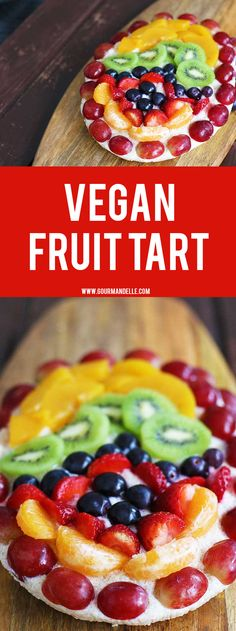 Here's how you can make a fresh, colorful and fruity vegan Easter tart! This delicious recipe is extremely easy to make and doesn't require baking. Check out the recipe! Vegan Sweets, Vegan Desserts, Delicious Desserts, Yummy Food, Dessert Healthy, Vegan Foods, Vegan Meals, Tart Recipes, Dessert Recipes