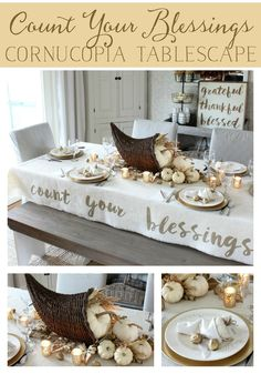 Count Your Blessings Cornucopia Table