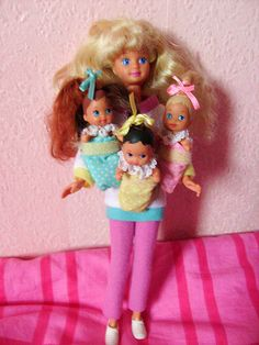 Babysitter Skipper- I LOOVED these dolls! The babies were velcro and could stick on Skipper's clothes, fun fun.