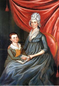 1799 Charles Peale Polk (1767-1822) Eleanor Conway Hite and Son, James Madison Hit