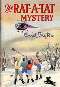 The Rat-a-Tat Mystery by Enid Blyton...wow, a helicopter