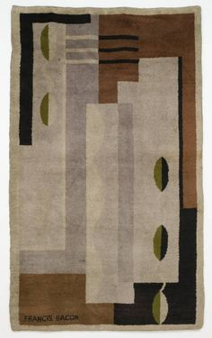 Francis Bacon wool 'Rug', c.1929 © The estate of Francis Bacon. All Rights Reserved, DACS 2014 #textiles #jpwarreninteriors #artdeco